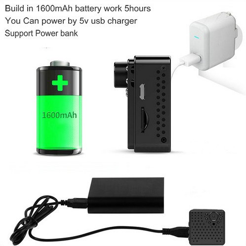 Mini WIFI Camera DVR, 5.0Mega 160degree Camera, Nightvision, SD Max128G - 7