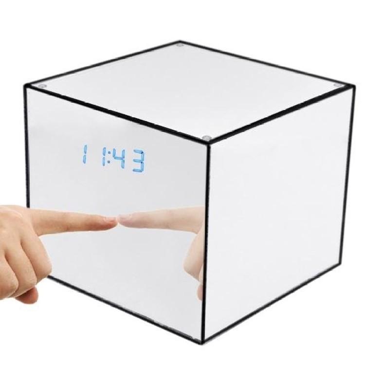 Mirror Box Fashion Safety Hidden Alarm Clock - 1