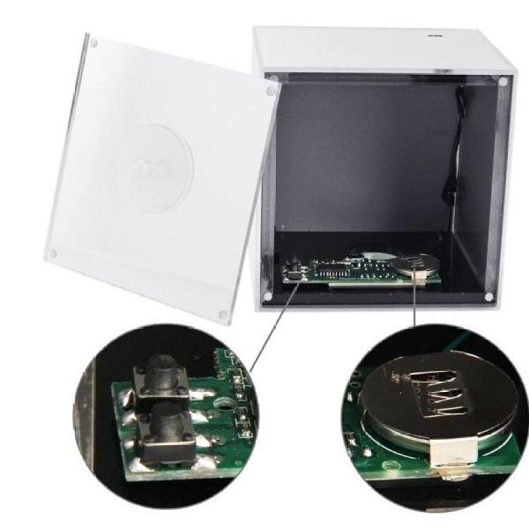 Mirror Box Fashion Safety Hidden Alarm Clock - 3