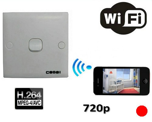 SPY WIFI Switch Camera, 1280x720p - 1