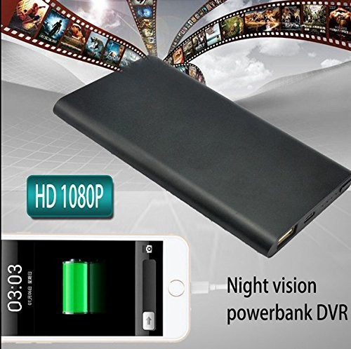 Ultra Thin HD 1080P Mobile Power Bank Spy Camera Hidden Camera Night Vision Spy - 7