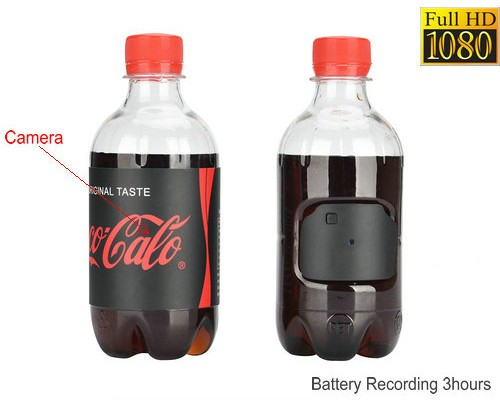 Water Bottle Hidden Camera, HD1080P 30fps, Battery Time 3hrs - 1
