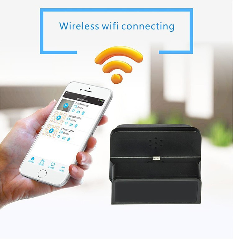 Wireless Wifi Spy Charging Dock Camera, Night Vision - 3