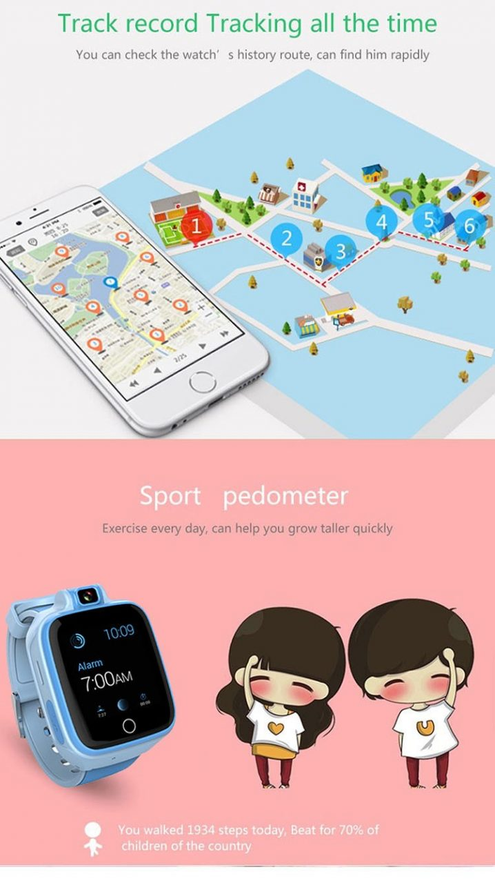 Kids GPS Tracker Watch, 4G, SOS Emergency Call with Video Call (GPS022W) - 03S