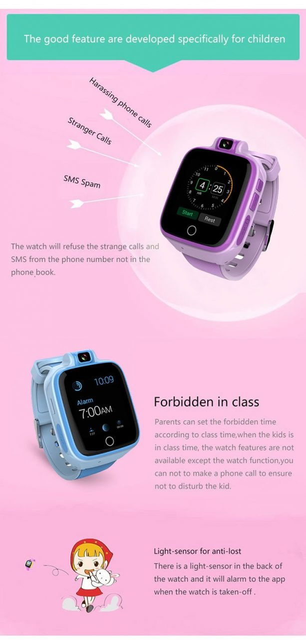 Kids GPS Tracker Watch, 4G, SOS Emergency Call with Video Call (GPS022W) - 04S