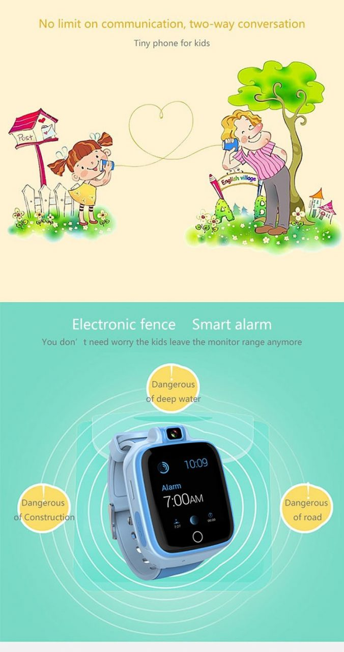 Kids GPS Tracker Watch, 4G, SOS Emergency Call with Video Call (GPS022W) - 05