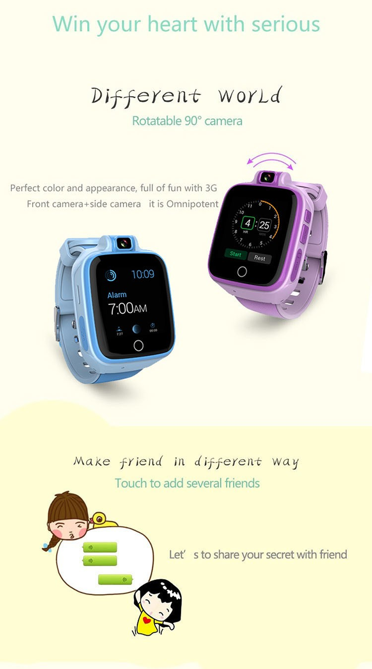 Kids GPS Tracker Watch, 4G, SOS Emergency Call with Video Call (GPS022W) - 09