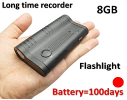 Long time LED magnet recording devices, battery recording 100days, Build in 8GB - 1 250px