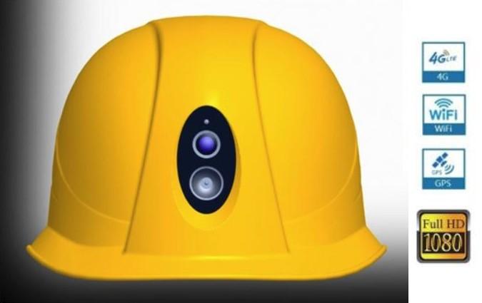 WIFI 4G LTE GPS 1080P HD headlight helmet camera - 1