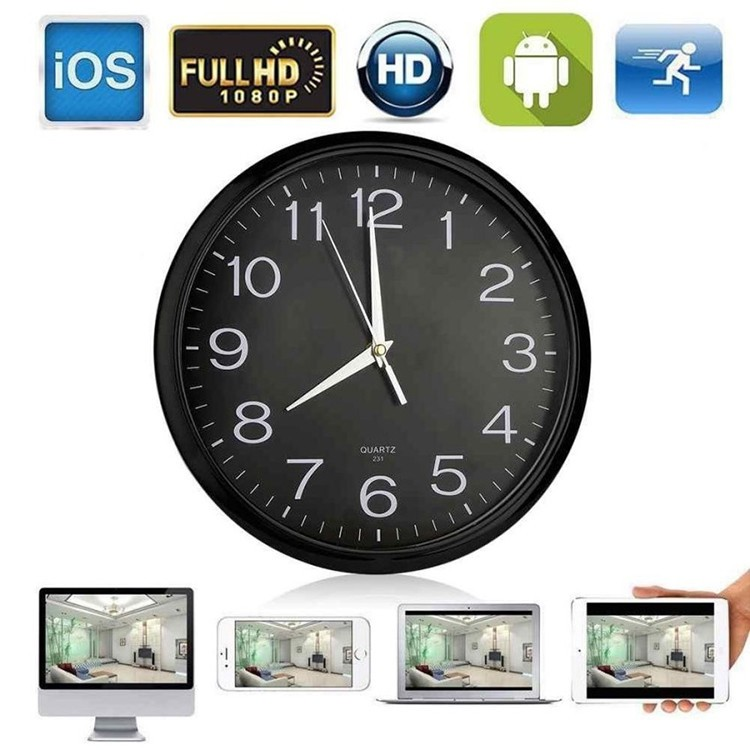 Wall Clock Spy Hidden Camera for home security with wireless monitoring - 1