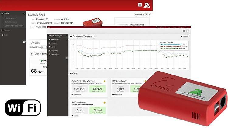 Wi-Fi Temperature & Environment Monitor, Alert, Log, Graph, Cloud, Map - 1