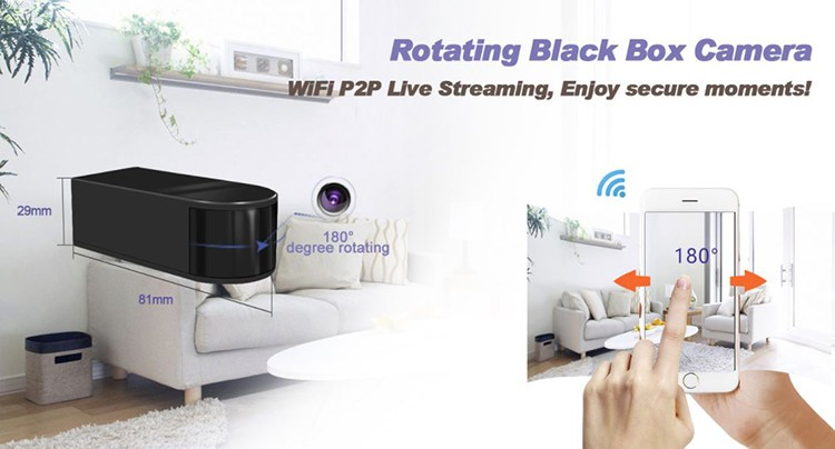 HD 1080P Mini Black Box WiFi Camera - 2