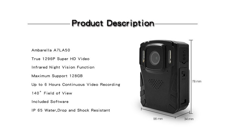 Removeable Battery - Body Worn Camera - 2