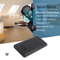 HD 1080P 10000mAh Portable Power Bank Camera, Continuously record for 20Hrs - 1 250px