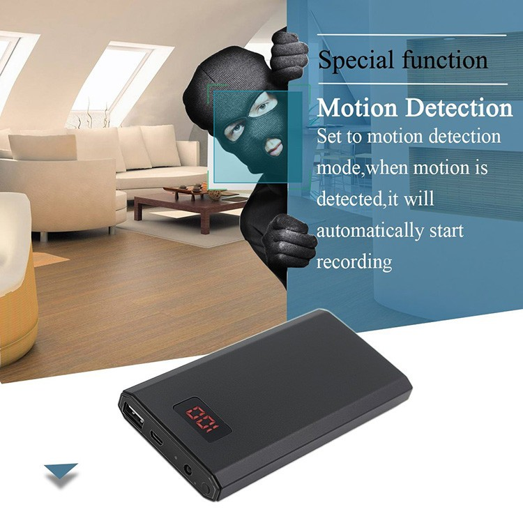 HD 1080P 10000mAh Portable Power Bank Camera, Continuously record for 20Hrs - 1