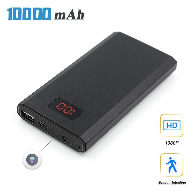 HD 1080P 10000mAh Portable Power Bank Camera, Continuously record for 20Hrs - 2