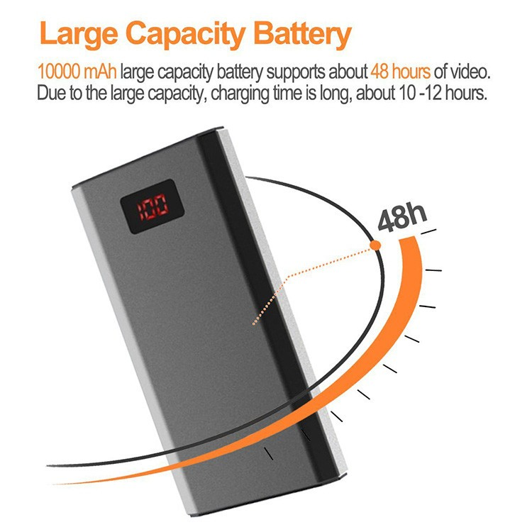 HD 1080P 10000mAh Portable Power Bank Camera, Continuously record for 20Hrs - 8