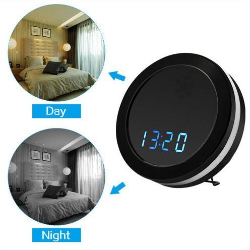 Night Mirror WIFI Clock Camera, Two Way Talk, Super Nightvision - 4