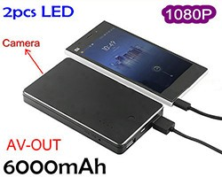 Power Bank Camera DVR, 1080p,6000mAh ,AV OUT - 1 250px