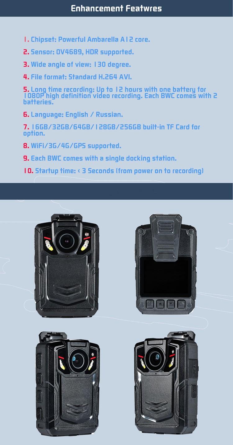 WIFI,GPS,3G,4G Body Worn Camera - 11