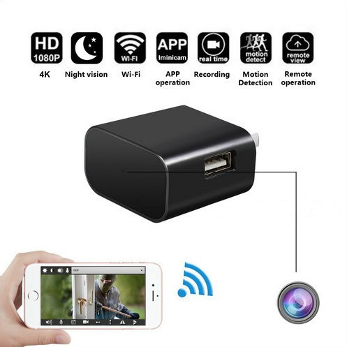 4K WIFI Charger Camera, HD 4K,H.264 - 2