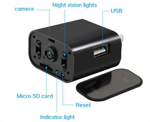 4K WIFI Charger Camera, HD 4K,H.264 - 5