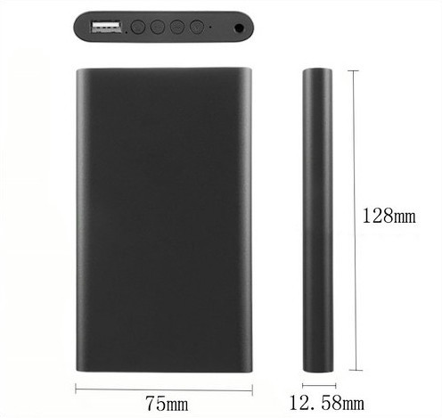 Power Bank Digital Voice Recorder, 6500mAh, 16G - 6