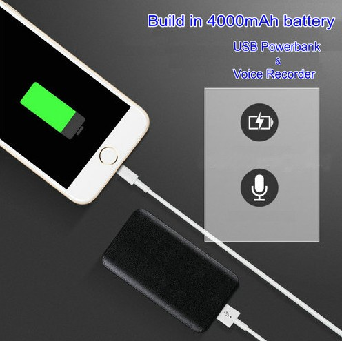 PowerBank Voice Recorder, Akku Recording Time 600hours, 32G - 8