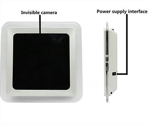 1080P H.264 WIFI Mirror Clock Camera, APP Control, TF Card, Motion Detection - 7