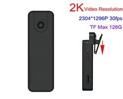 2K Mini Body Worn Camera, 2304x1296p, H.264, SD Card Max 128GB - 1 250px