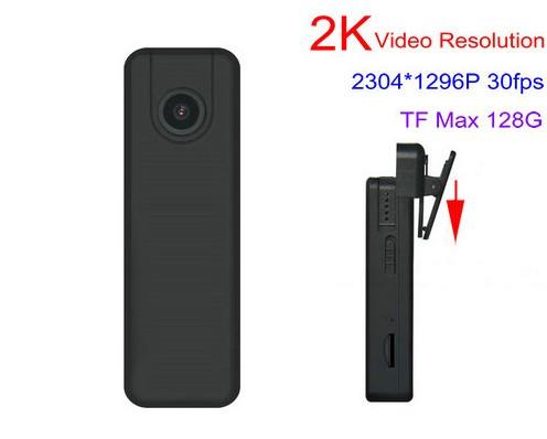 2K Mini Body Worn Camera, 2304x1296p, H.264, SD Card Max 128GB - 1
