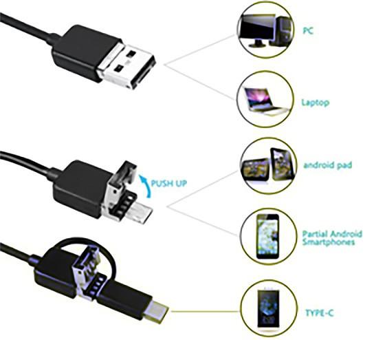 Android Type-C 3in1 Endoscope Borescope Waterproof IP67 - 02