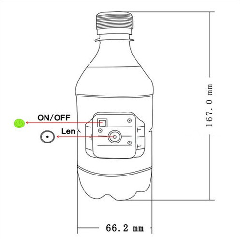 Bottle Hidden Camera, Motion Detection - 5