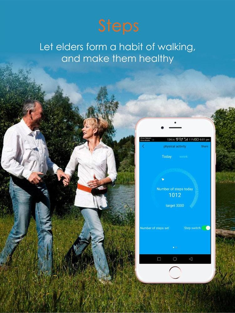 Elderly Health Monitoring GPS Tracker Watch - 8