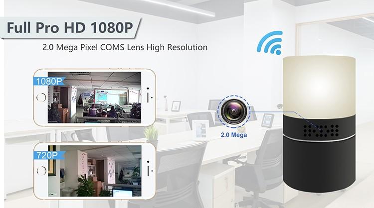 HD 1080P Desk Lamp Security Wi-Fi Camera - 1