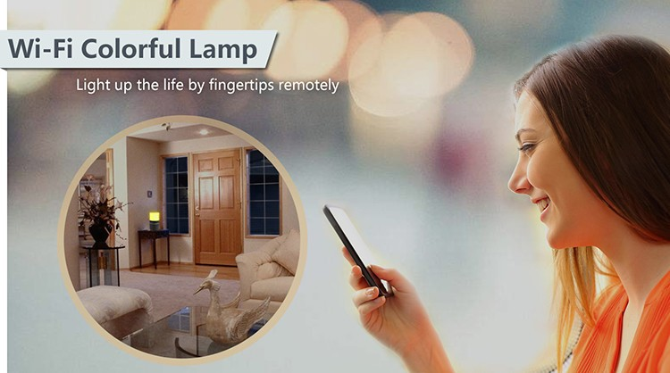 HD 1080P Stolní lampa pro zabezpečení Wi-Fi kamery - 2
