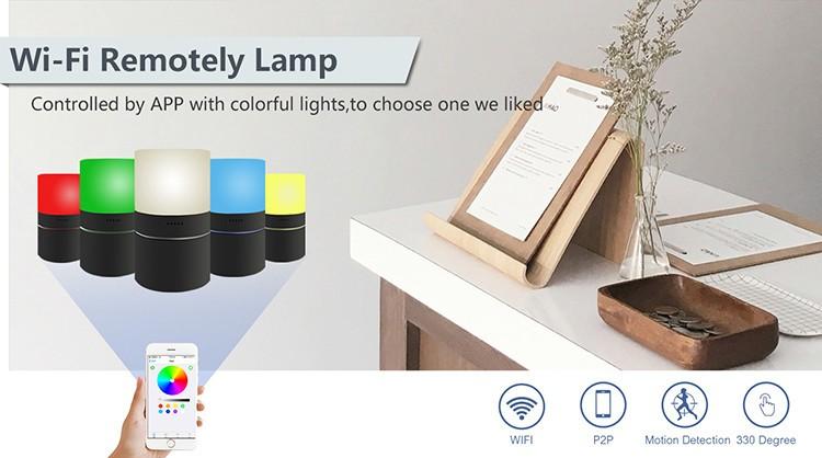 HD 1080P Stolní lampa pro zabezpečení Wi-Fi kamery - 3