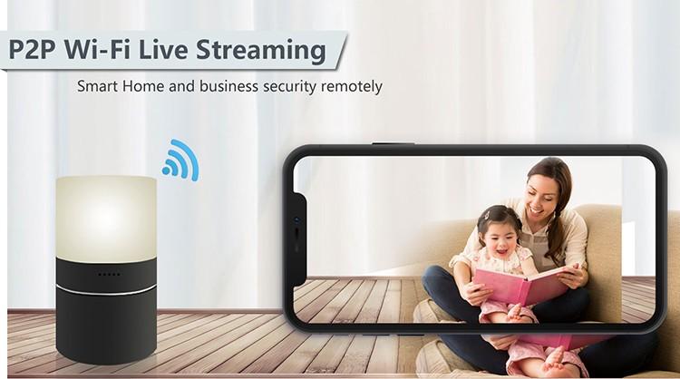 HD 1080P Stolní lampa pro zabezpečení Wi-Fi kamery - 4