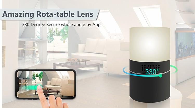 HD 1080P Desk Lamp Security Wi-Fi Camera - 5