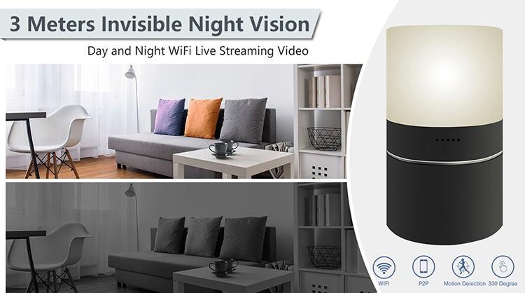 HD 1080P Stolní lampa pro zabezpečení Wi-Fi kamery - 6
