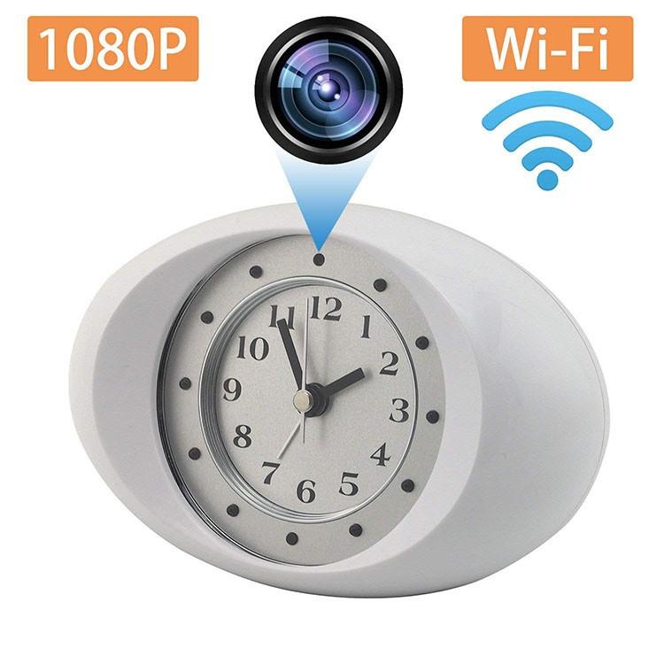 Hidden Spy Camera 1080P HD Wireless Wifi IP Camera White Clock - 2