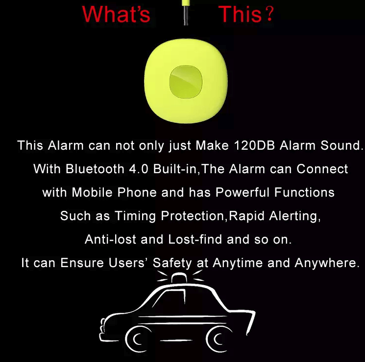 Personal Alarm - (Support IOS, Android Apps Notification with GPS Location) - 2