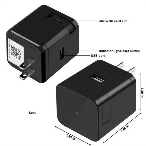 Super Nightvision WIFI Charger Camera, 1080P, 120 degree Camera, Super Nightvision - 6