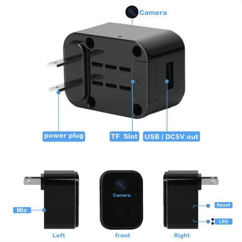 WIFI Charger Camera, HD1080P, 120 Degree imperforate lens - 6
