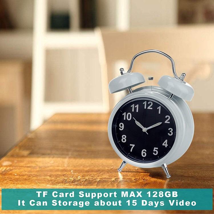 WIFI Hidden Spy Camera Alarm Clock, Home Security Camera Loop Video Recorder - 5