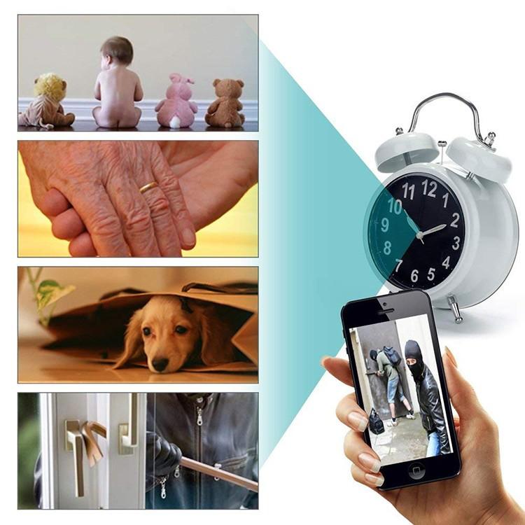 WIFI Hidden Spy Camera Alarm Clock, Home Security Camera Loop Video Recorder - 6