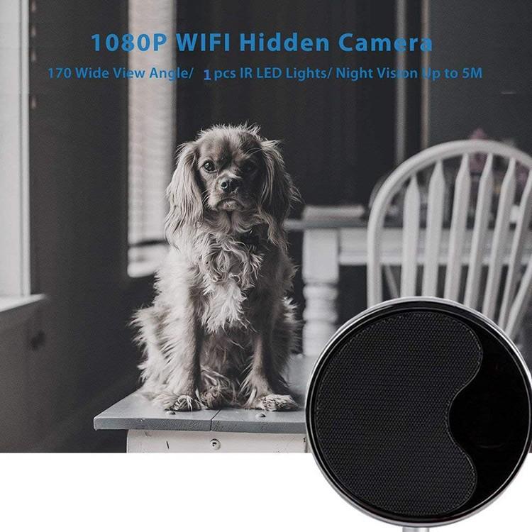 1080P WIFI بلوتوث اسپیکر پنهان دوربین جاسوسی - 7