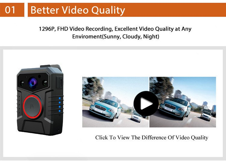Affordable WIFI Body Worn Camera - 1
