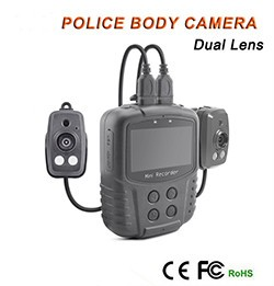 Dual Lens Ambarella A7 Police Body Worn Camera with 7000mah Battery, Police Camera - 1 250PX
