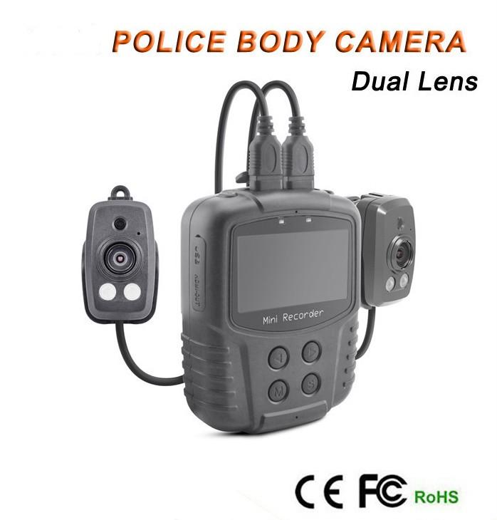 Dual Lens Ambarella A7 Police Body Worn Camera with 7000mah Battery, Police Camera - 1